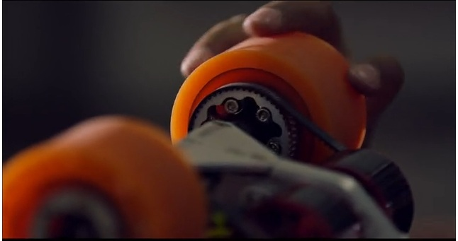 Screen grab from boosted boards video